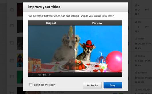 YouTube video manager corrección automática