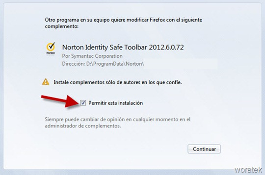 Norton Identity Toolbar