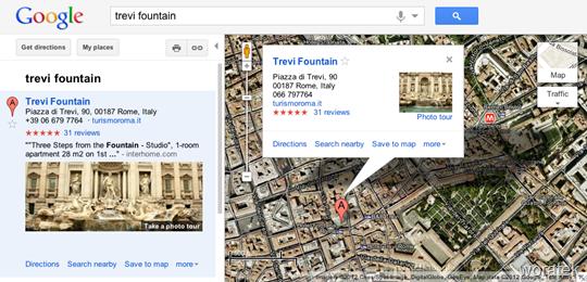 Trevi Fountain- Google Maps