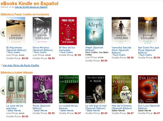 eBooks Kindle en Español