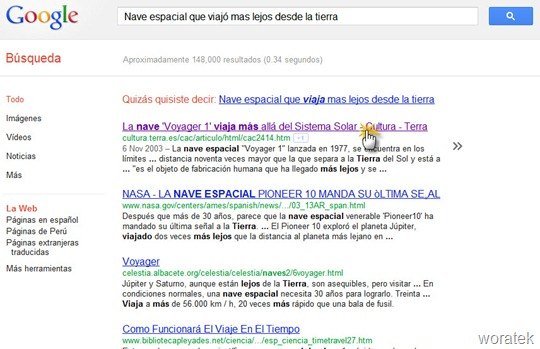 Google Quick Scroll extensión 2