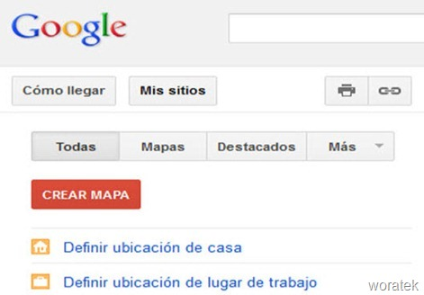 GoogleMaps  guarda dirección casa y trabajo