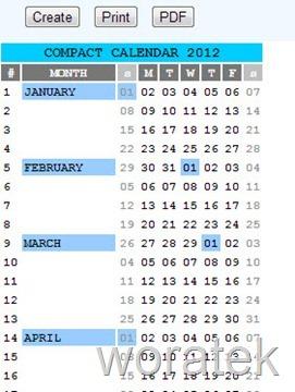 30-10-2012 compact Calendar