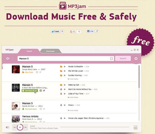 21-11-2012 MP3Jam descargar musica mp3