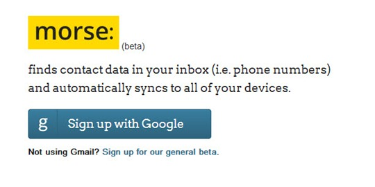 Morse, encuentra datos de contactos en Gmail y los sincroniza a tu libreta de direcciones