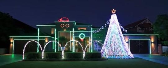 18-12-2012 luces de navidad Gangnam Style