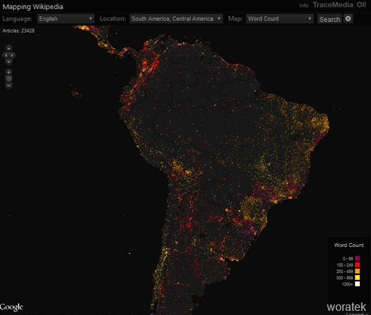 Mapping Wikipedia, mapa interactivo de la enciclopedia Wikipedia