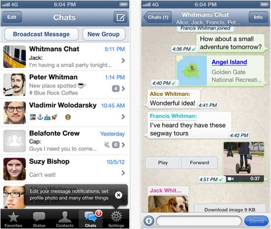 whatsapp en iOS