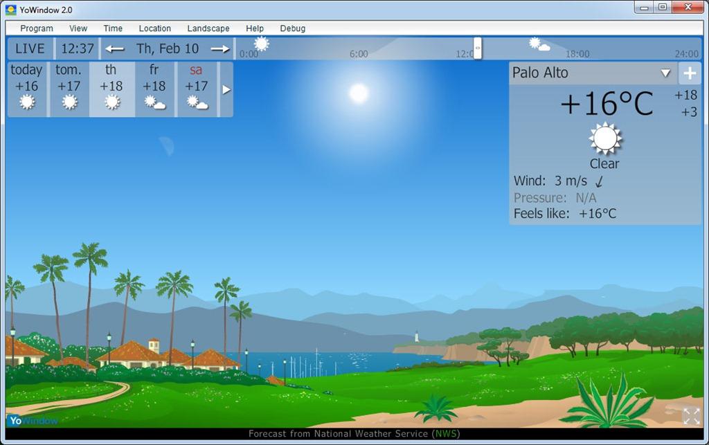 YoWindow, información meteorológica en screensavers