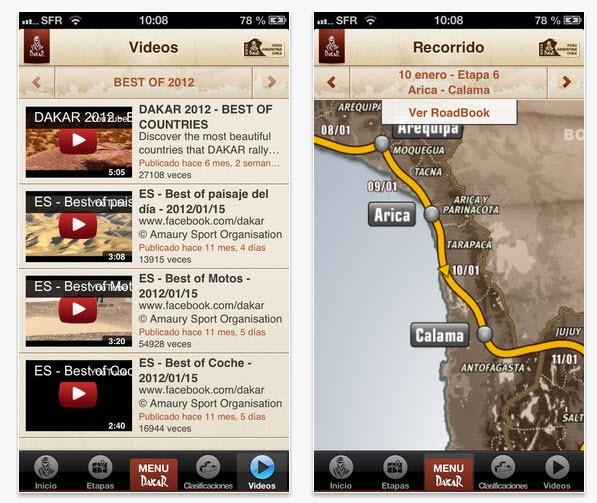 Dakar 2013 en vivo desde tu smartphone