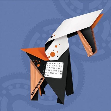 04-01-2013 origami calendario 2013
