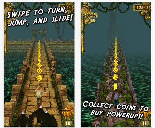 Temple Run el videojuego, entre las apps mas descargadas en el App Store