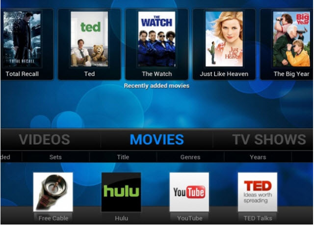 XBMC para Android, completo reproductor multimedia para Android