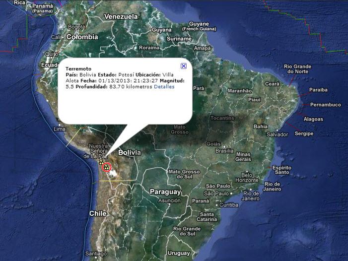 Información de desastres naturales en tiempo real