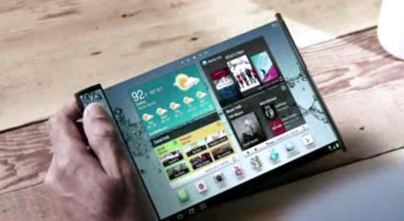 Youm, pantallas Samsung ultra delgadas que se doblan y enrollan