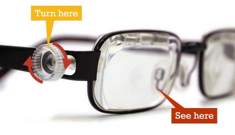 Lentes de medida auto ajustables es lo último en tecnología de anteojos