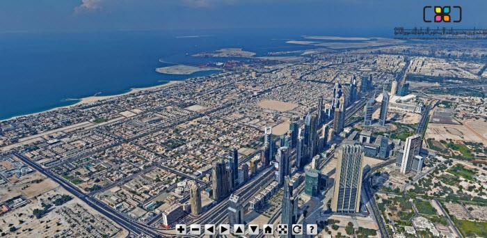 Foto panorámica de Dubai desde el edificio más alto del mundo