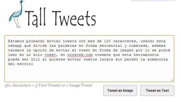 Twitter con más de 140 caracteres con Tall Tweets