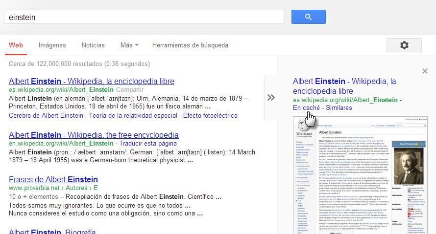 Abrir rápido páginas web en cache de Google con Chrome