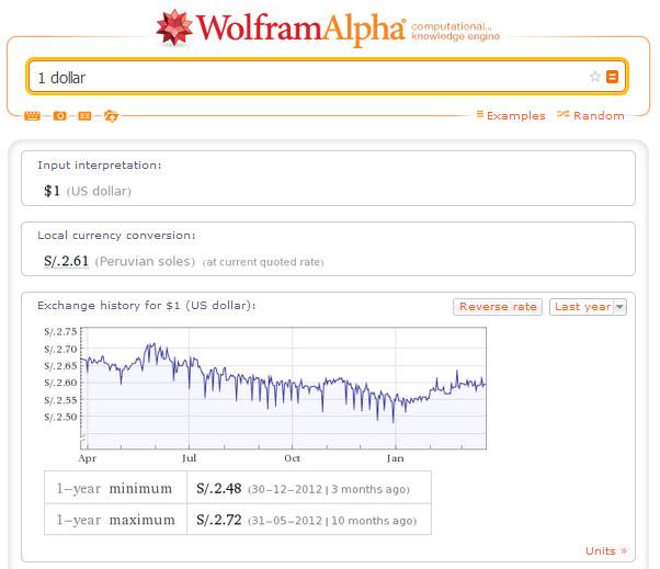 Wolfram alpha conversor de divisas