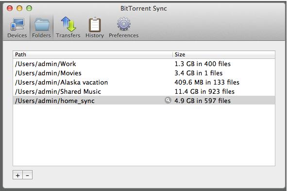 BitTorrent Sync tranferencia de archivos entre pcs