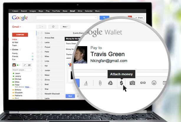 Enviar dinero por Gmail-Google wallet
