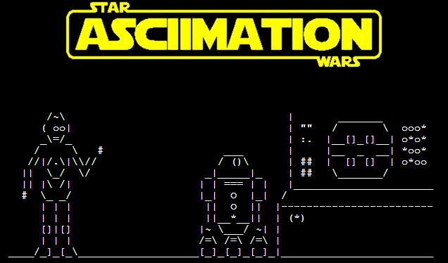Star Wars en ASCII