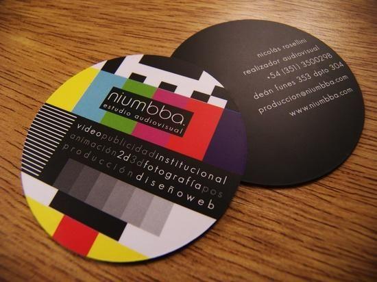 Tarjeta de negocios especial para trabajadores o negocios de  audiovisuales