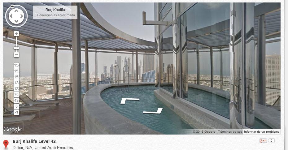 Burj Khalifa en Google Street View