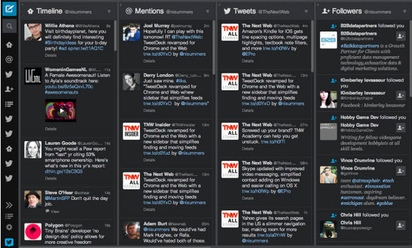 TweetDeck actualización para Web y Chrome