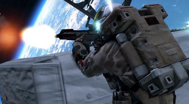 Astronautas disparan en el espacio en Call Duty