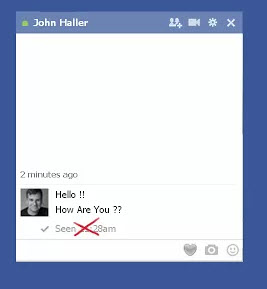 Bloquear mensaje visto Facebook