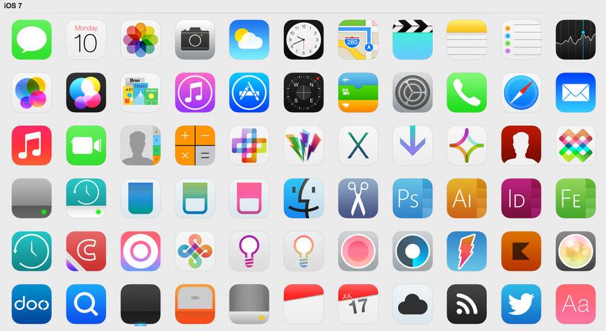 Descargar pack de iconos de iOS 7