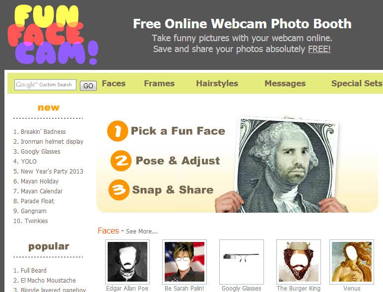 Efectos webcam con Fun Face Cam para poner cara en cuadros