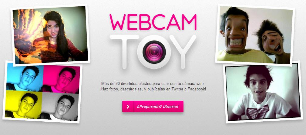 Consigue efectos webcam con Webcam Toy