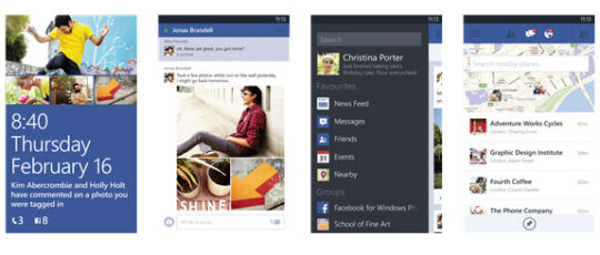 Facebook para Windows Phone