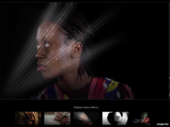 Interactuar con video musical Arcade Fire Google Chrome