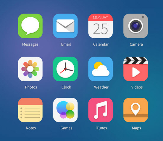 Pack de iconos de iOS 7