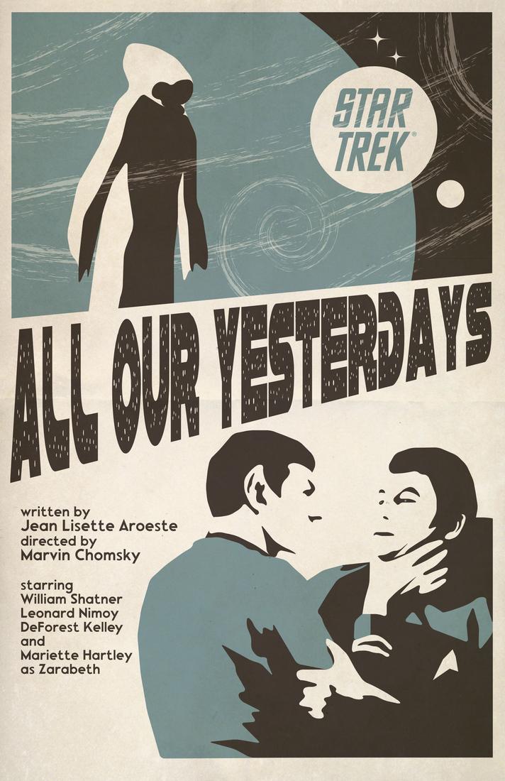Posters vintage Star trek mostrando una pelea