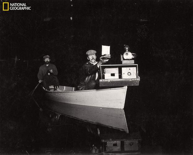 Primeras fotos de fauna nocturna por  George Shiras III