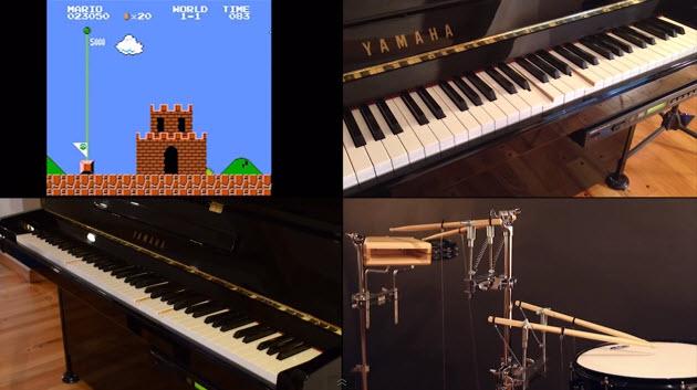 Música de Nintendo en piano y percusión robótica [Video]