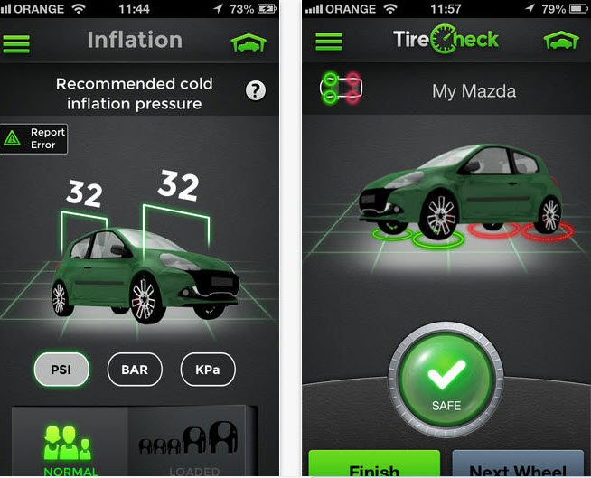 Aplicación para  medir presión de las llantas del auto gratis [iPhone, iPad]
