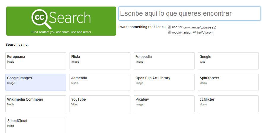 Encontrar y descargar imágenes libres de derechos de autor (creative commons)