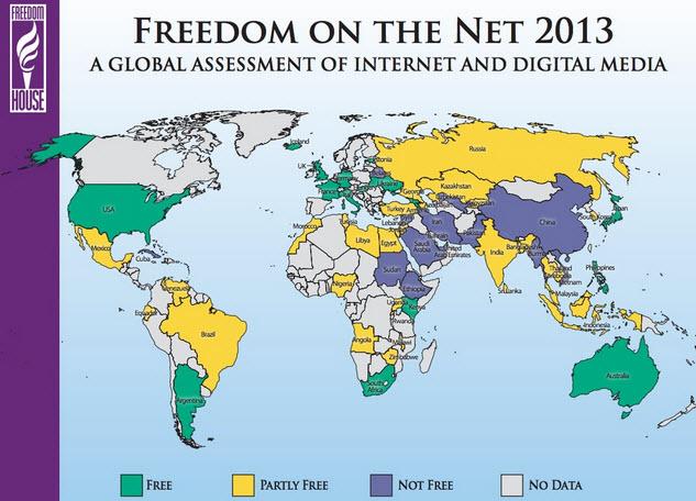 Libertad en internet en 2013