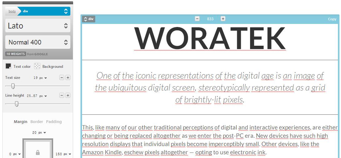 Tipos de letras Google Fonts editor