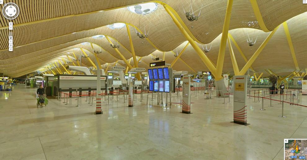 Aeropuertos por dentro con Google Street View