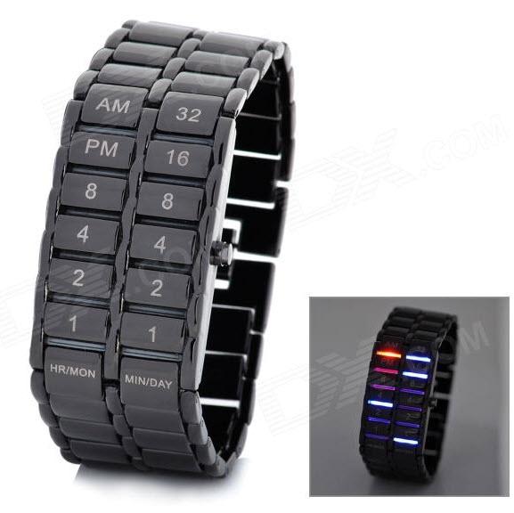 Reloj pulsera con iluminación LED