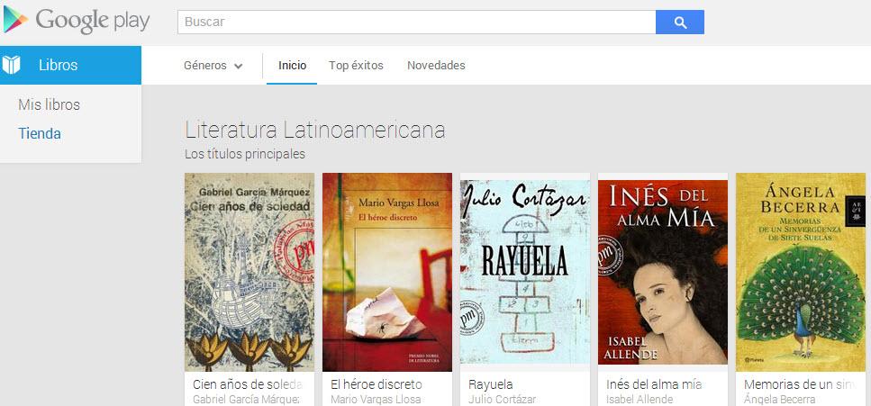 Libros de Google Play Books en sudamérica