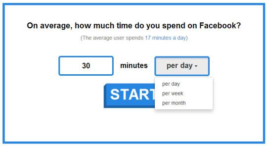 Calcula el tiempo que pasas en Facebook