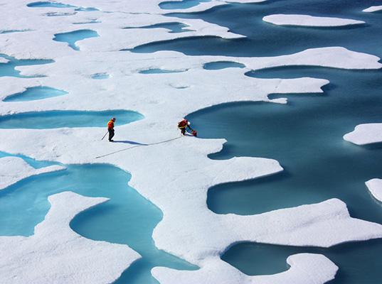 Deshielo por calentamiento global imagen NASA